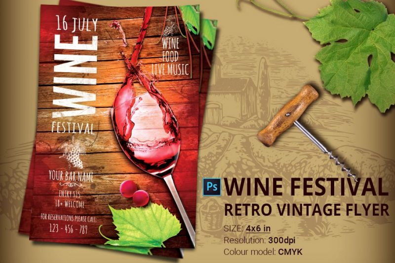 Wine Festival Flyer Templates