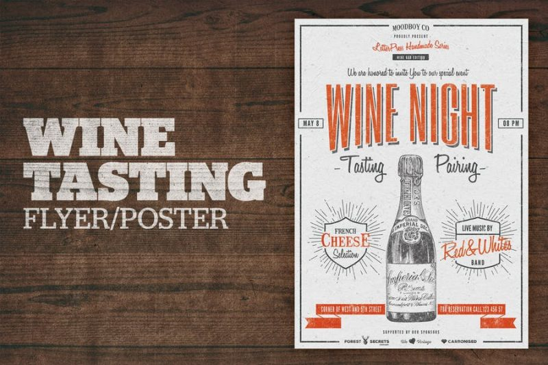 Wine Night Flyer Template