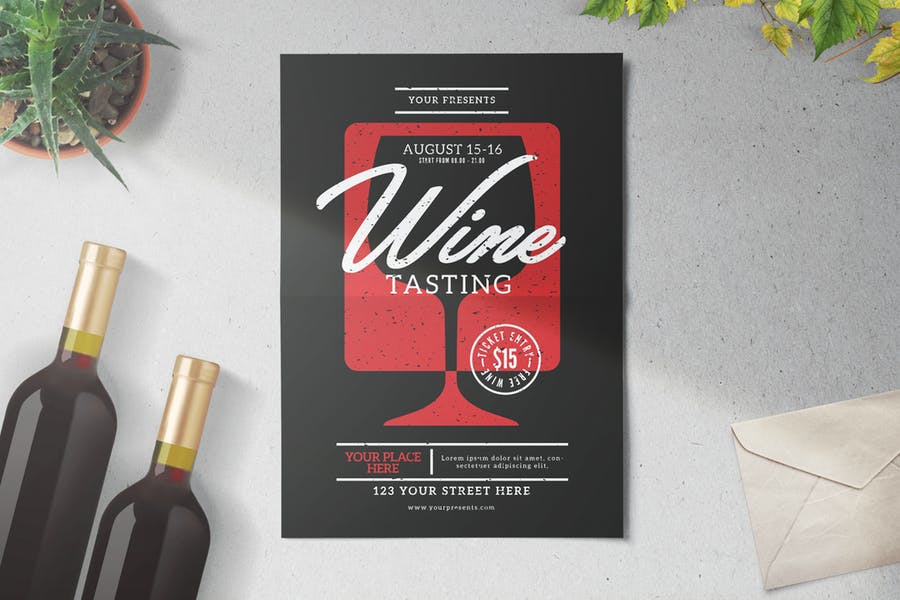 Wine Tasting Event Flyers