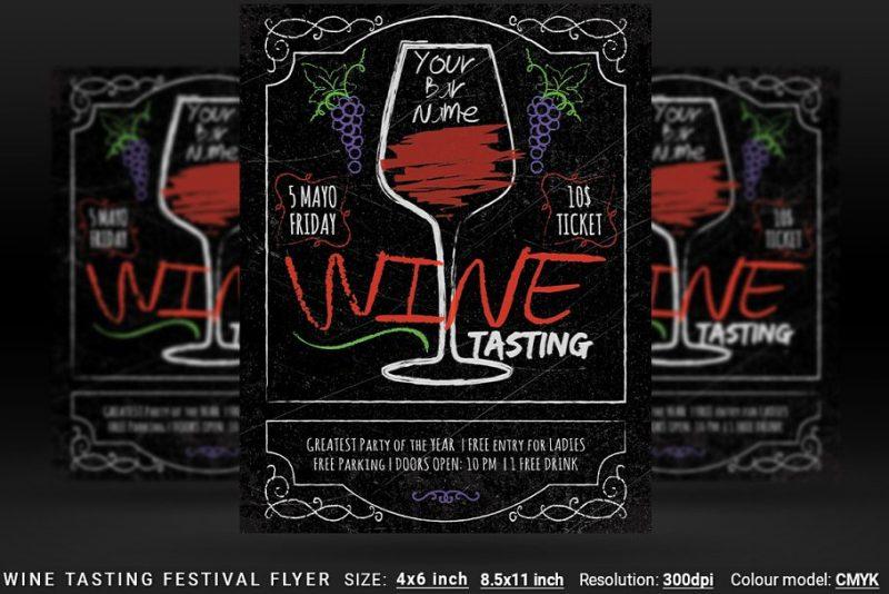 Wine Tasting Festival Flyer