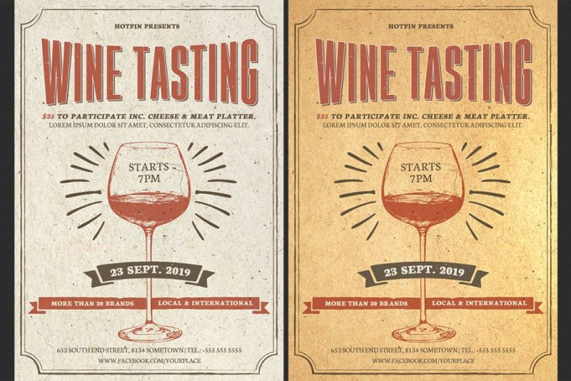 Wine Tasting Party Flyer