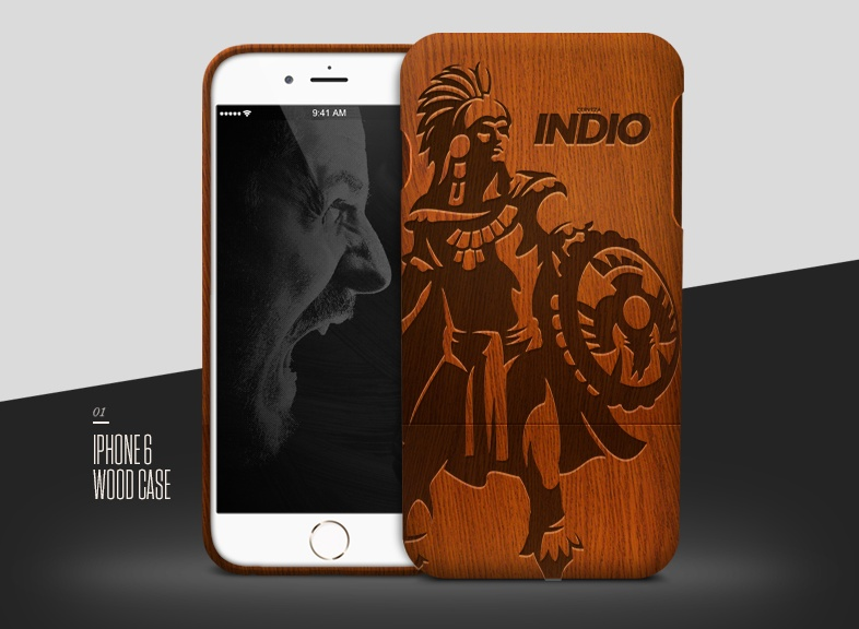 Wooden Case Mockup PSD