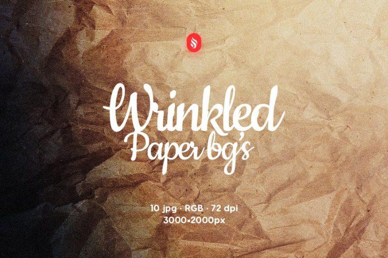 Wrinkled Paper Backgrounds