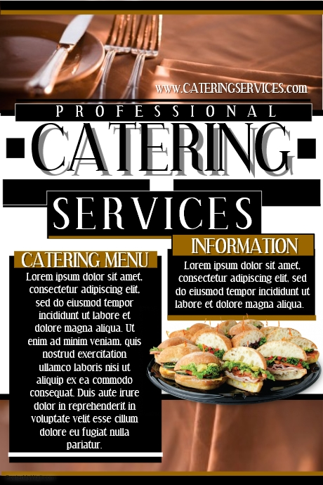 catering Services Flyers