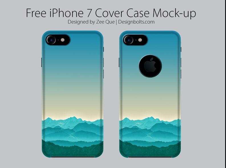 iPhone 7 Case Mockup PSD