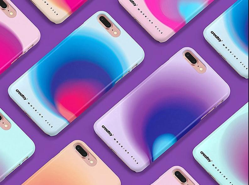 iPhone 8 Plus Case Design Mockup