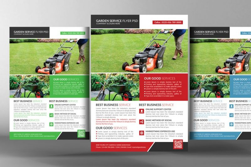 lawn Care Business Flyer PSD