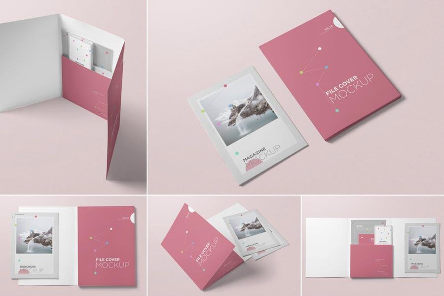 5 PSD Folder Mockups