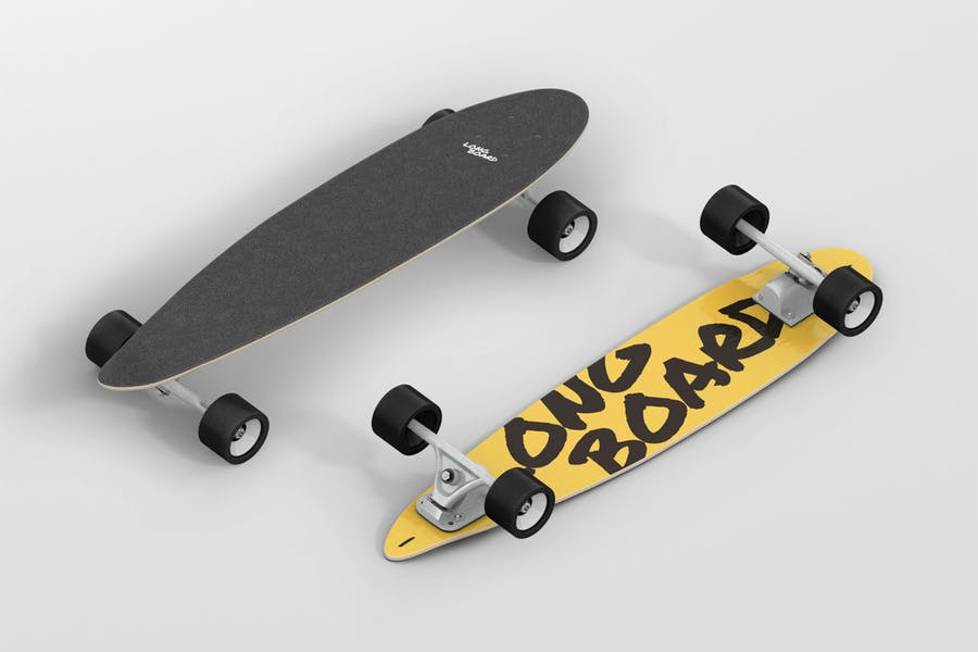 8 Long Board Mockups Set