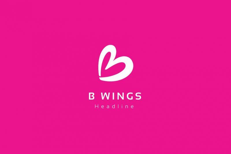 B Wings Logo Design