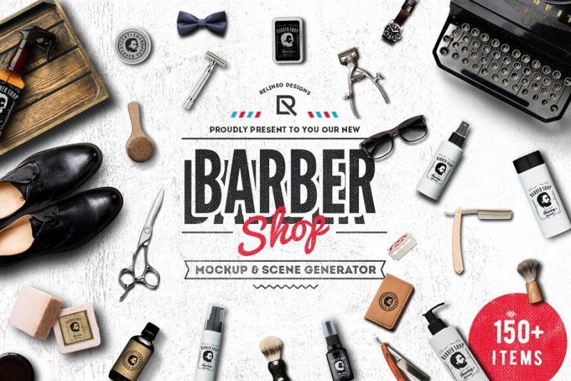 Barber Shop Mockup Generator