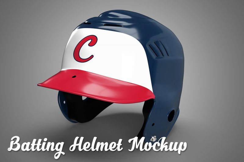 Batting Helmet Mockup PSD
