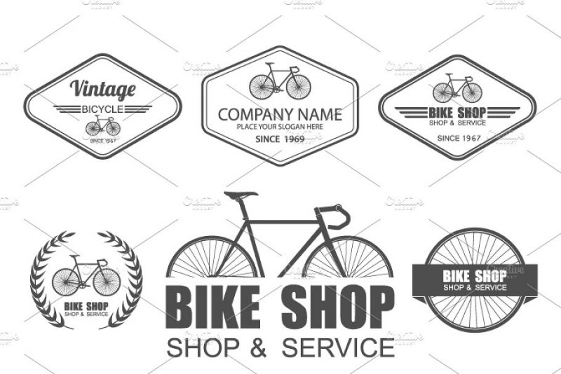 Bicycle Store Logo Set