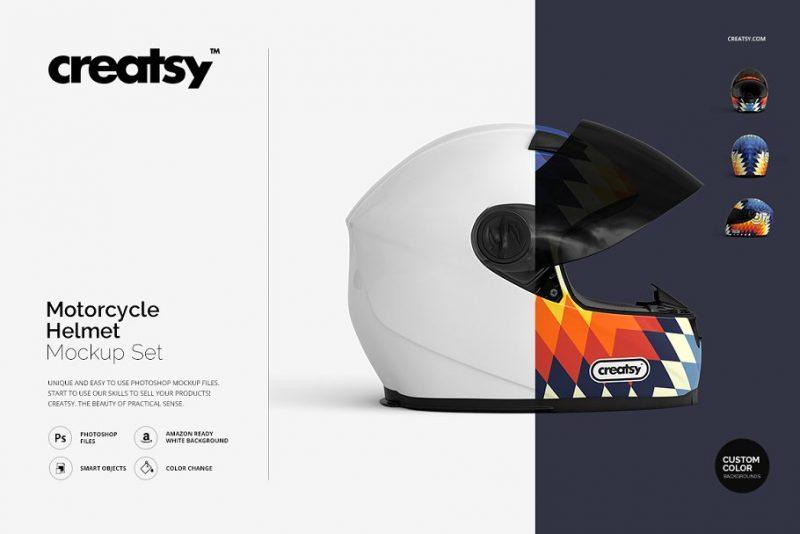 Bikers Helmet Mockup PSD