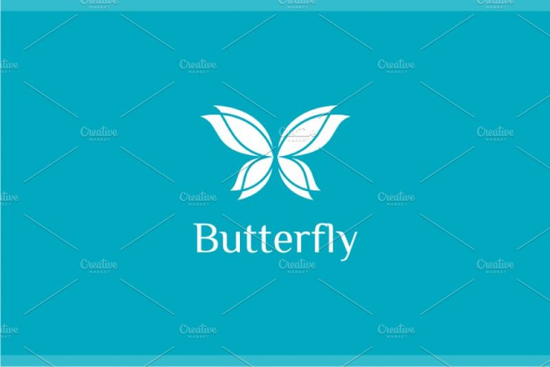 Butterfly Wings Logo Design
