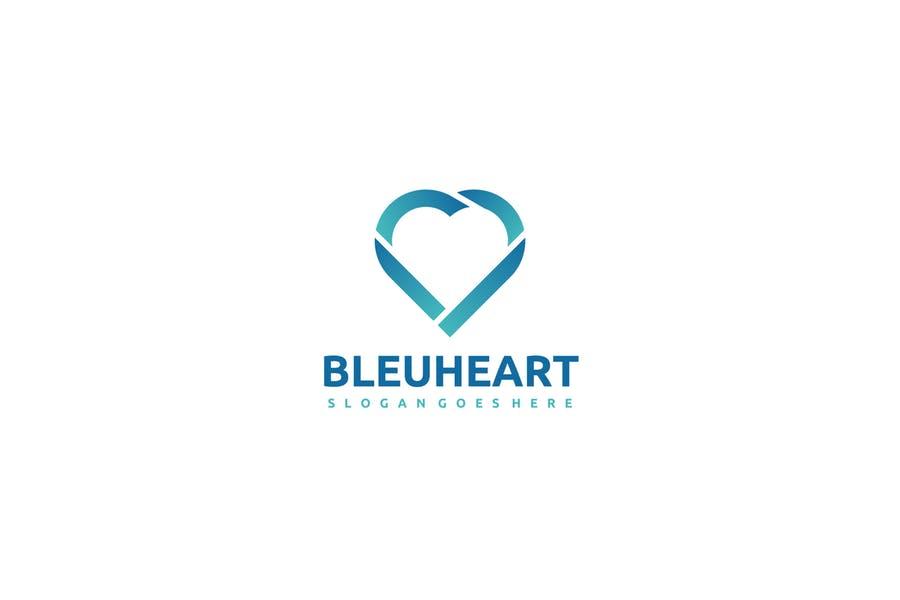 Blue Heart Logo Design