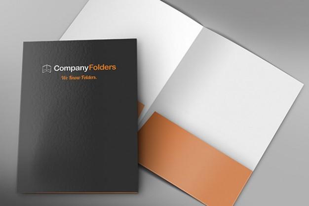 Business Folder Mockup Free