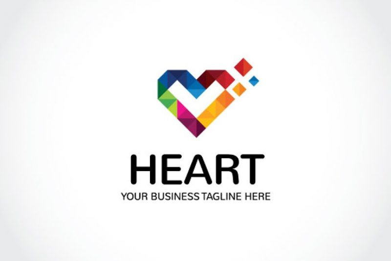 Colorful Heart Identity Design