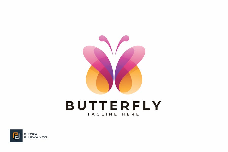 Customizable Butterfly Logo Idea
