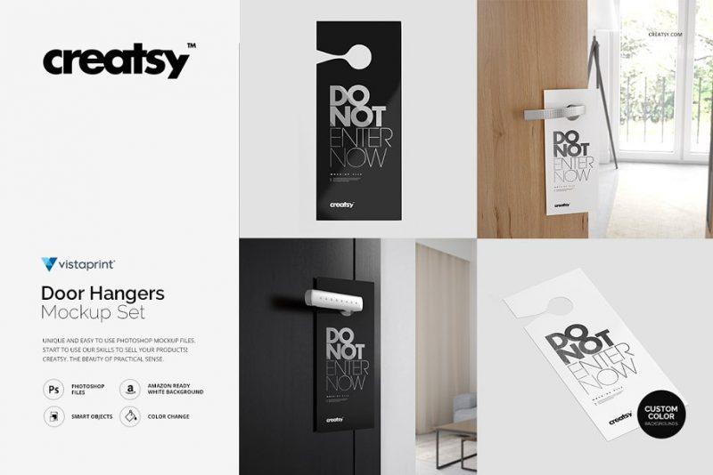 Door Hangers Branding Mockups