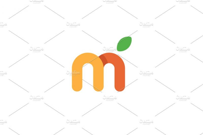 Editabke Fruit Letter Logo