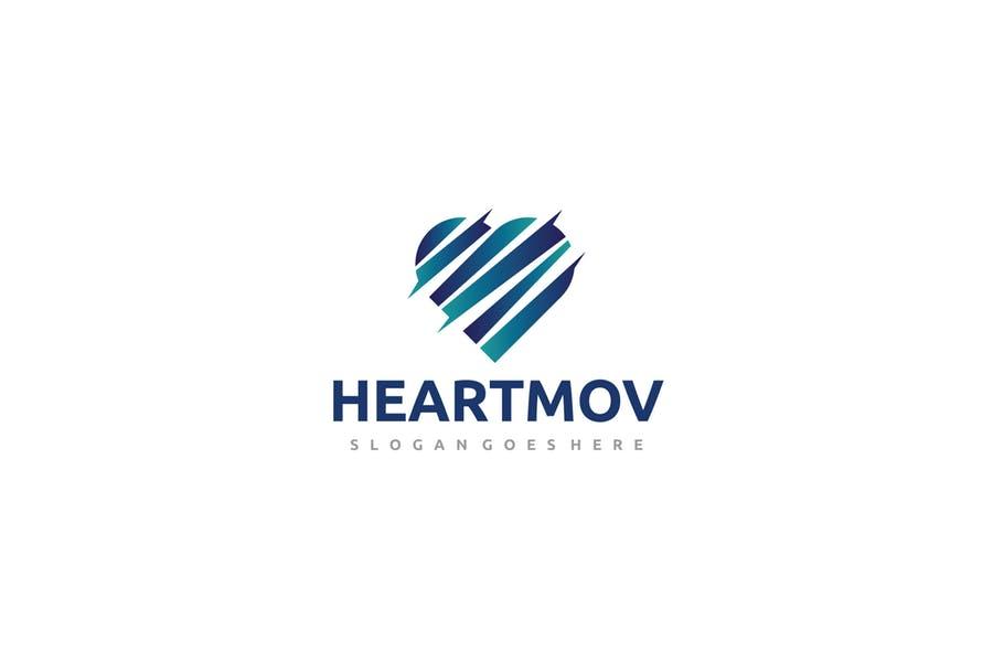 Editable Heart Branding Design