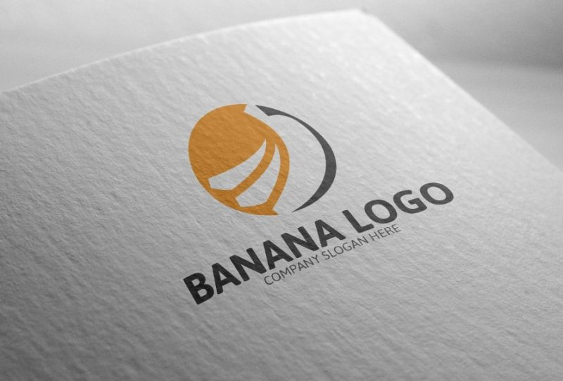 Editable Banana Logo Design