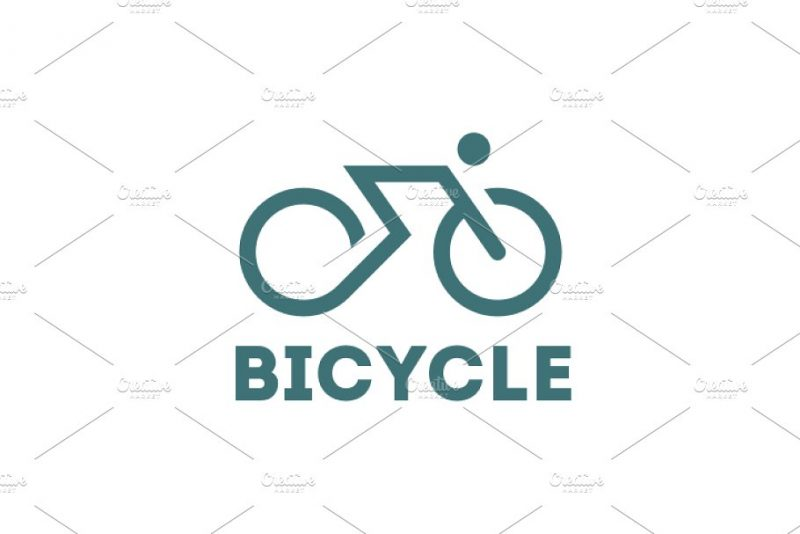 Editable Bicycle Logo Sample