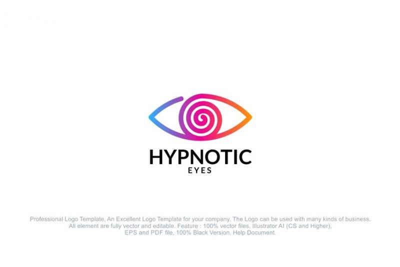 Editable Hypnotic Eye Logo