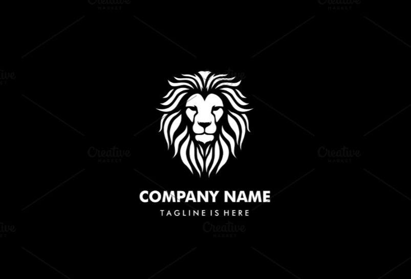 Editable Lion Head Logo
