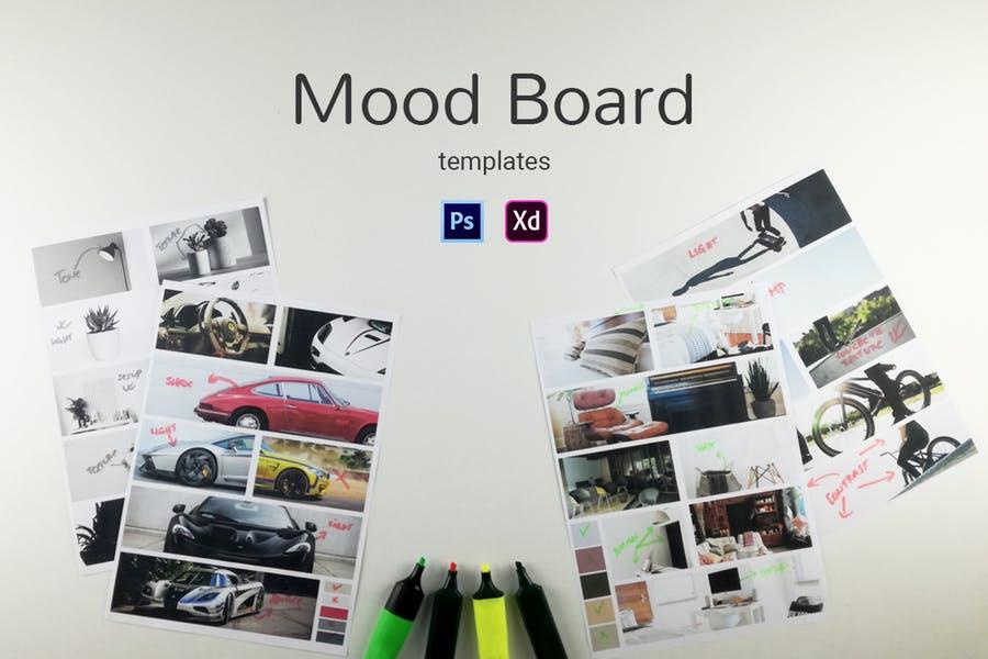 Editable Mood Board PSD