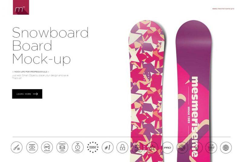 Editable Snowboard Mockup