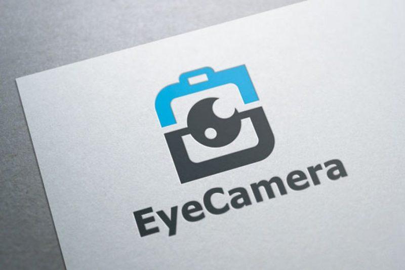 Eye Camera Logo Design Template
