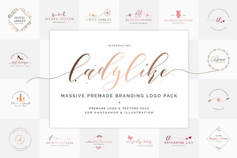 Feminine Text Logo Design