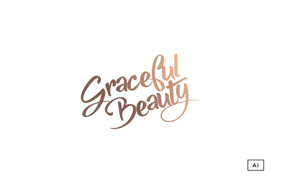Feminine Typography Logo Design