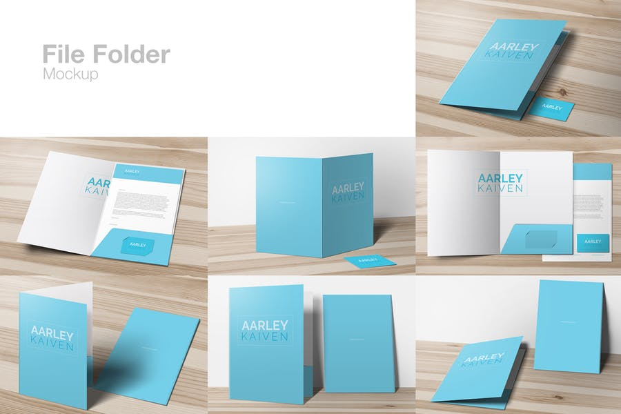 File Folder Mockup PSD