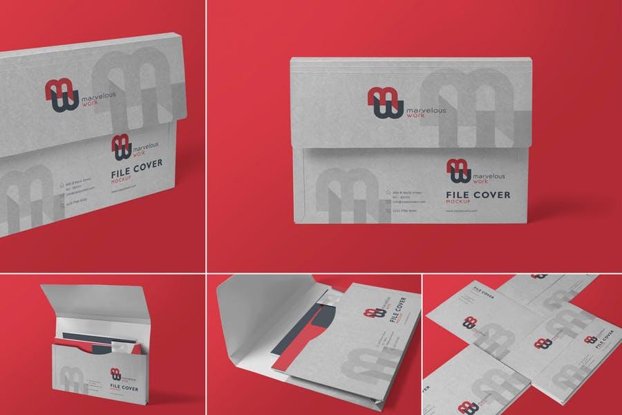 Flap Folders Mockup PSD