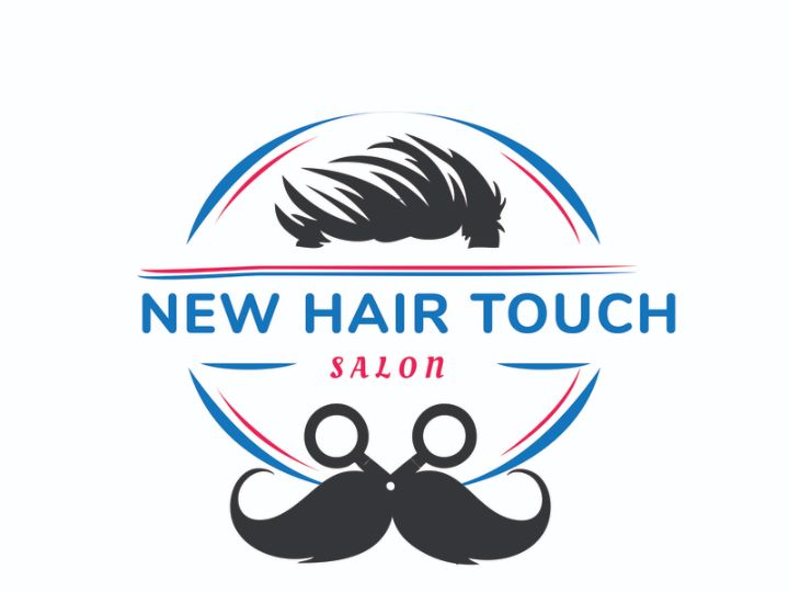 Flat Hair Cut Logo Design
