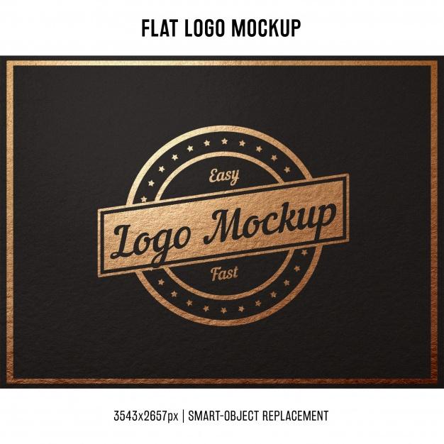 Flat Stamped Logo Mockup
