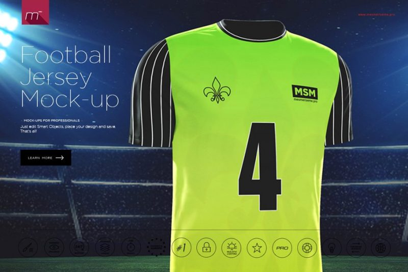 Football Jersey PSD Template