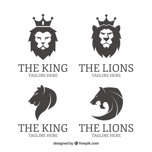 Four Lion Logos Set