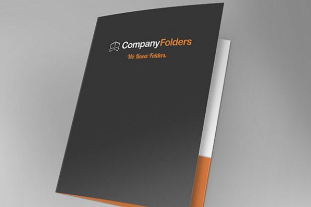 Free Folder PSD Mockup