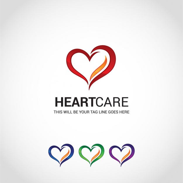 Free Heart Care Identity Template