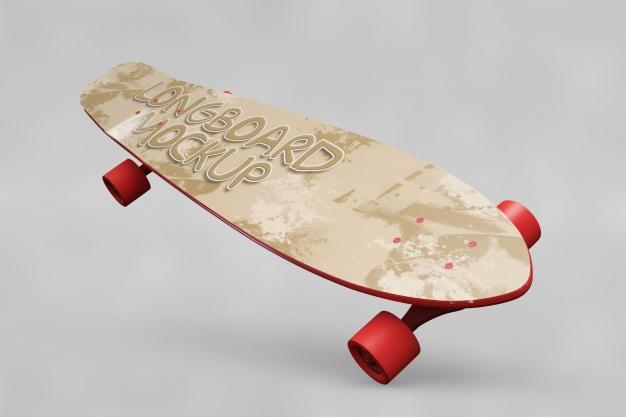 Free Skating Board Mockup