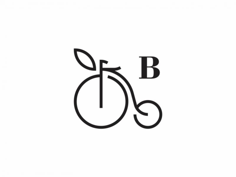 Fruit and Cycle Logo Example