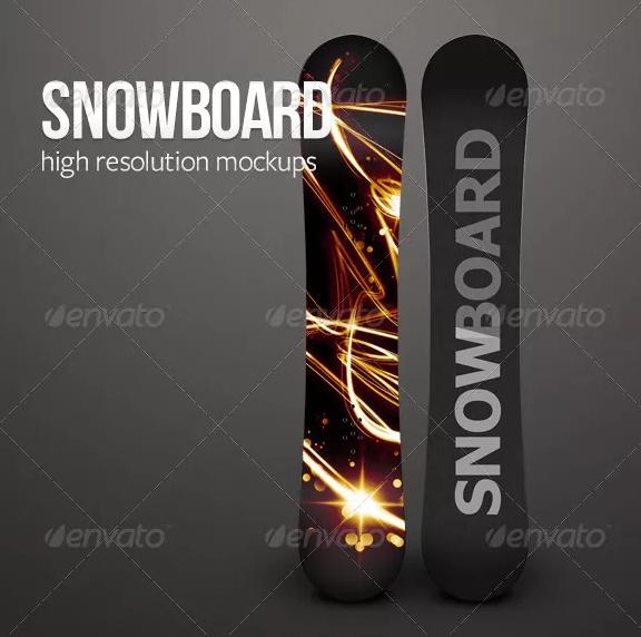 HR Snowboard Mockup PSD