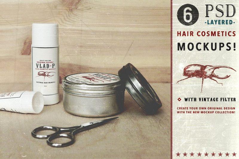 Hair Cosmetics Mockup PSD