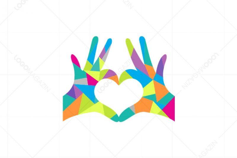 Hand and Heart Logo Identity