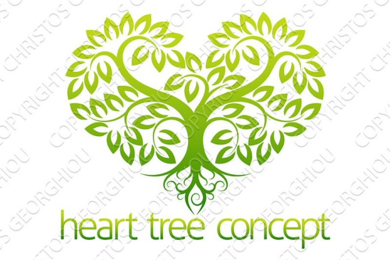 Heart and Tree Creative Logo