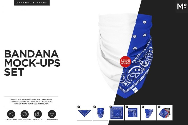 High Resolution Bandana Mockup